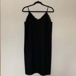 Black Vero Moda Slip Dress w/ Lace Detail